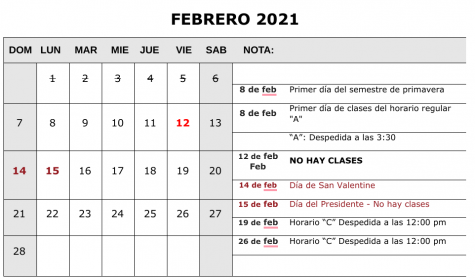 Calendario Mensual Anticipado